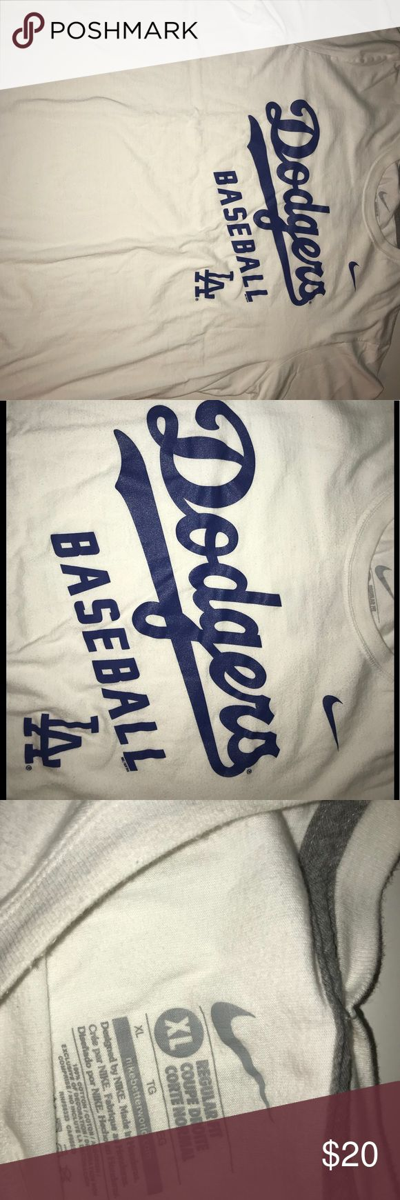 Nike Dodgers T shirt Dodgers T shirt made by Nike. Unisex. Go well with jeans or a skirt. 100% cotton. NWOT Nike Shirts Tees - Short Sleeve