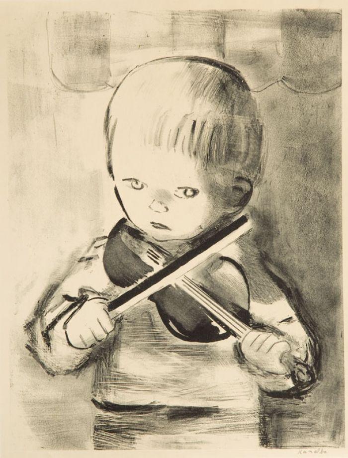 Rajmund Kanelba (Kanelbaum) - Chłopiec grający na skrzypcach