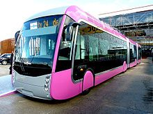 Sustainable transport -The Bus Rapid Transit of Metz uses a diesel-electric hybrid driving system, developed by Belgian Van Hool manufacturer