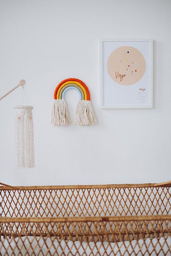 Nursery Rope Rainbow Safari Wall Hanging In 2020 Baby Wall Decor
