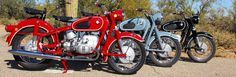 Bmw R69 in Granada Red, Dominican Blue and Classic Black