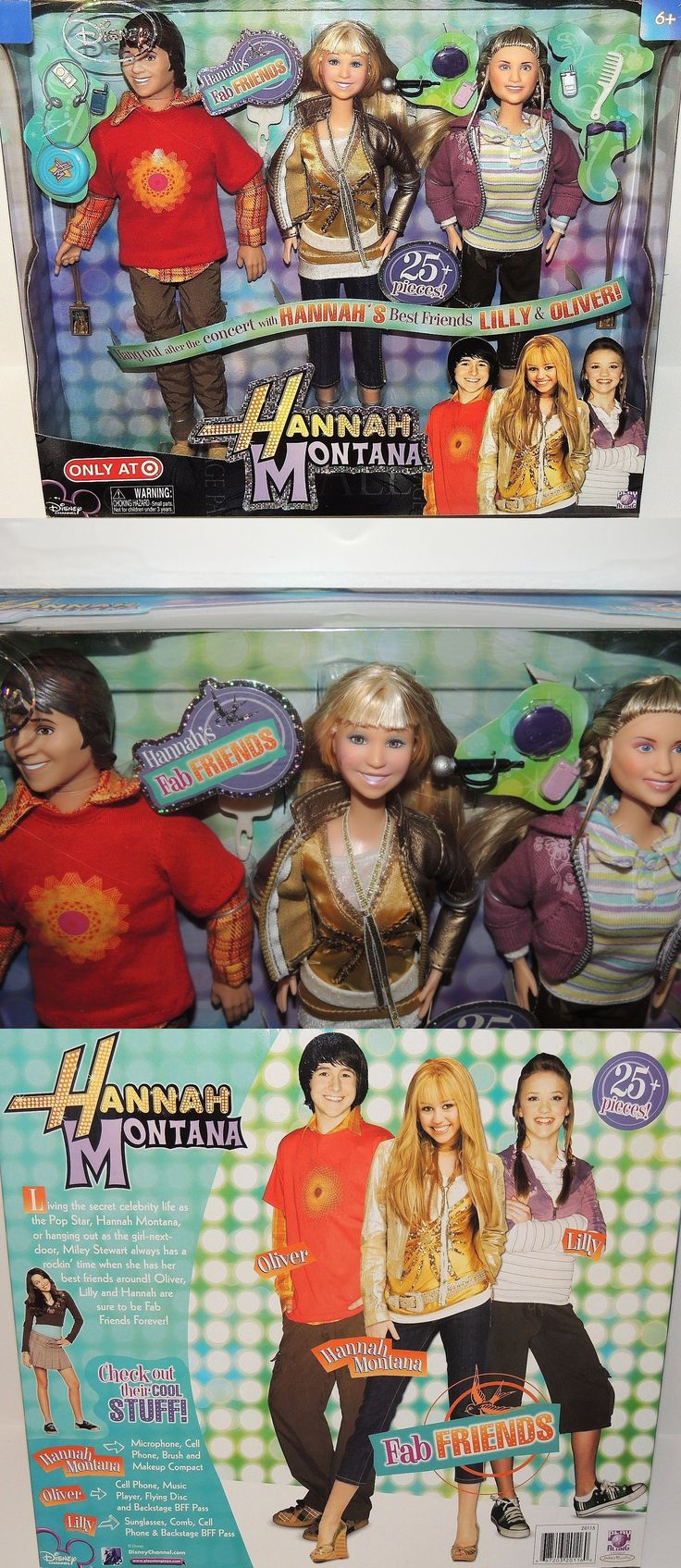 Hannah Montana 158763: Disney Hannah Montana, Lilly And Oliver Dolls Target Exclusive Fab Friends 3 Miley -> BUY IT NOW ONLY: $49.99 on eBay!