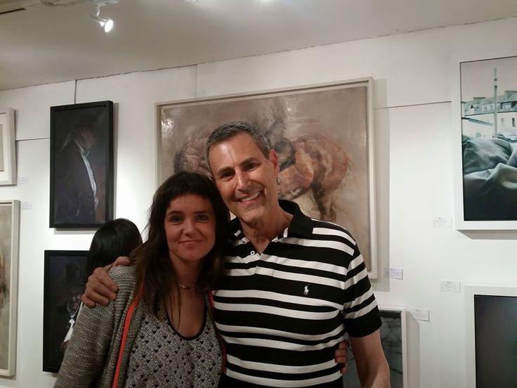 Uri Geller at 20|21The International Art Fair London. Hope my paintings don't bend