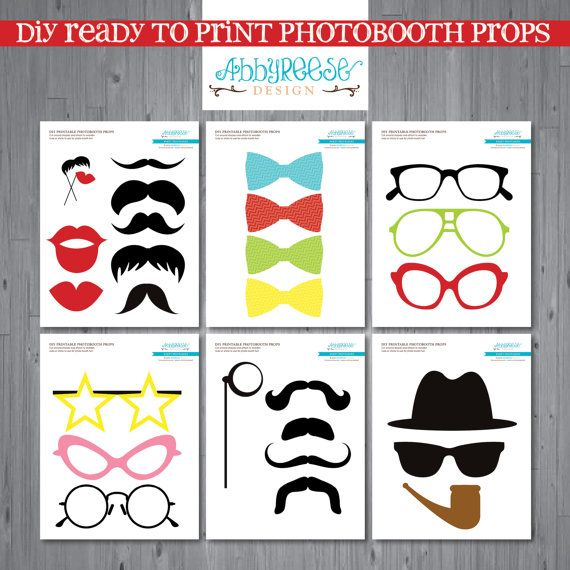 Photo Booth Props & Signs - Wedding Decorations