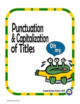 ... rules of capitalization as well as when to underline and when to use