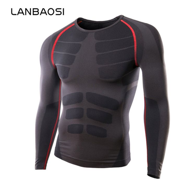 LANBAOSI Men Running Cycling Tight Sportswear Long Sleeve Breathable Quick-Drying Base layer Basketball Jersey Compression Shirt -*- AliExpress Affiliate's buyable pin. Click the image for detailed description on www.aliexpress.com