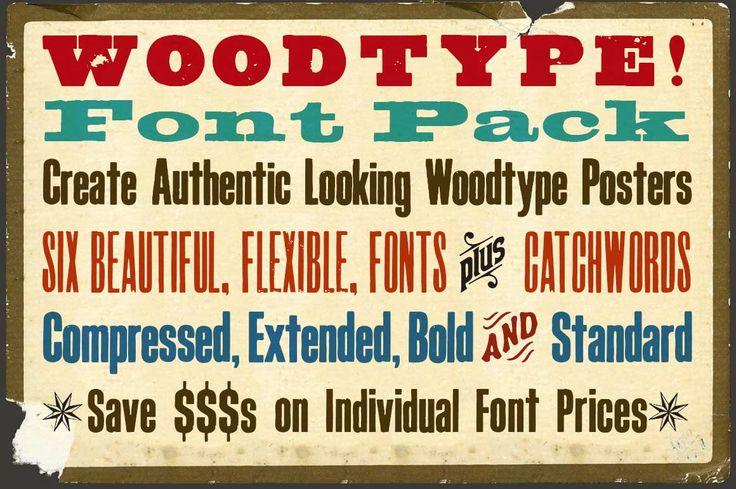 Download Woodtype Font Pack by K22 Foundry on Creative Market ...