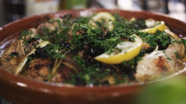 Eén - Dagelijkse kost - tajine van kip met citroen en olijven