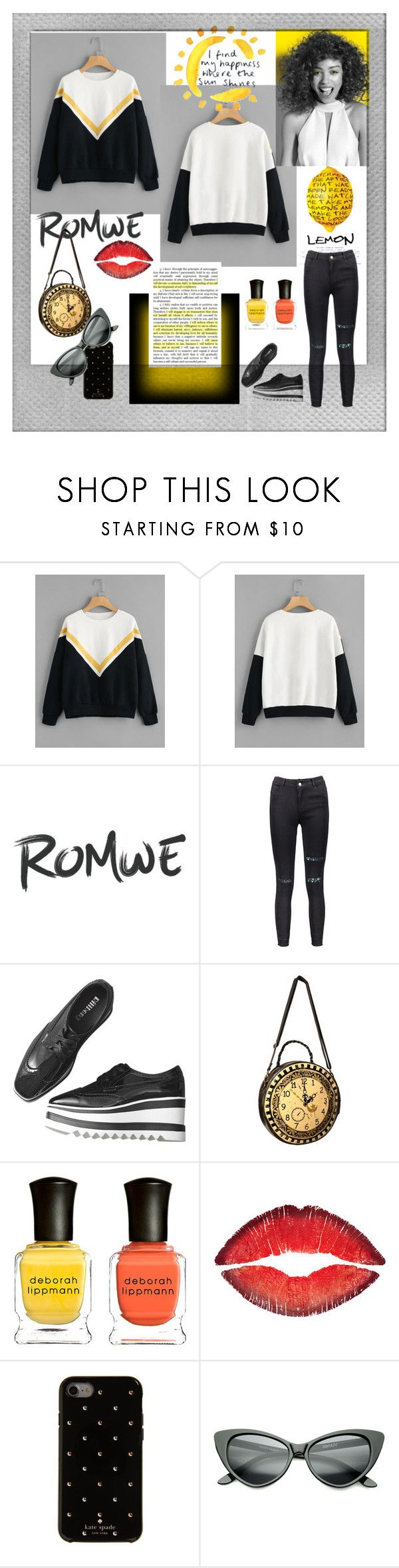 """""""ROMWE"""" by explorer-14673103603 on Polyvore featuring Paul Mitchell, Deborah Lippmann, Givenchy, Kate Spade and Polaroid"""