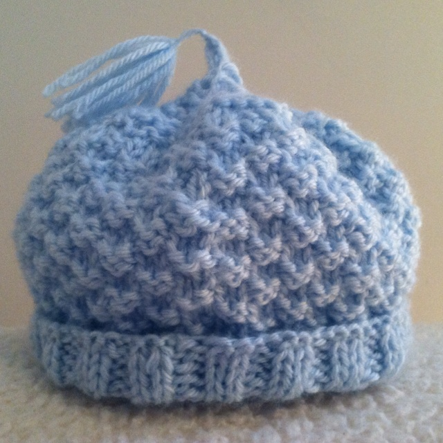 My first knitted baby hat with circular needles. Hats, Mittens, Scarves, an...