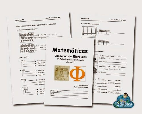 RECURSOS PRIMARIA | Cuadernillo de actividades de Matemáticas para 5º de Primaria