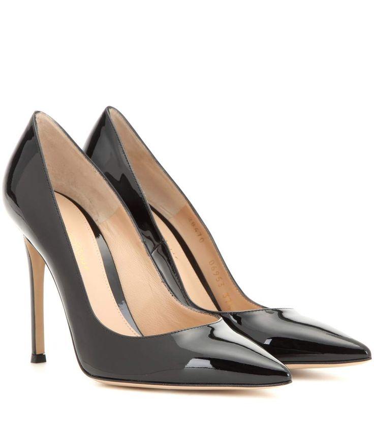 GIANVITO ROSSI Gianvito 105 Patent Leather Pumps. #gianvitorossi #shoes #pumps