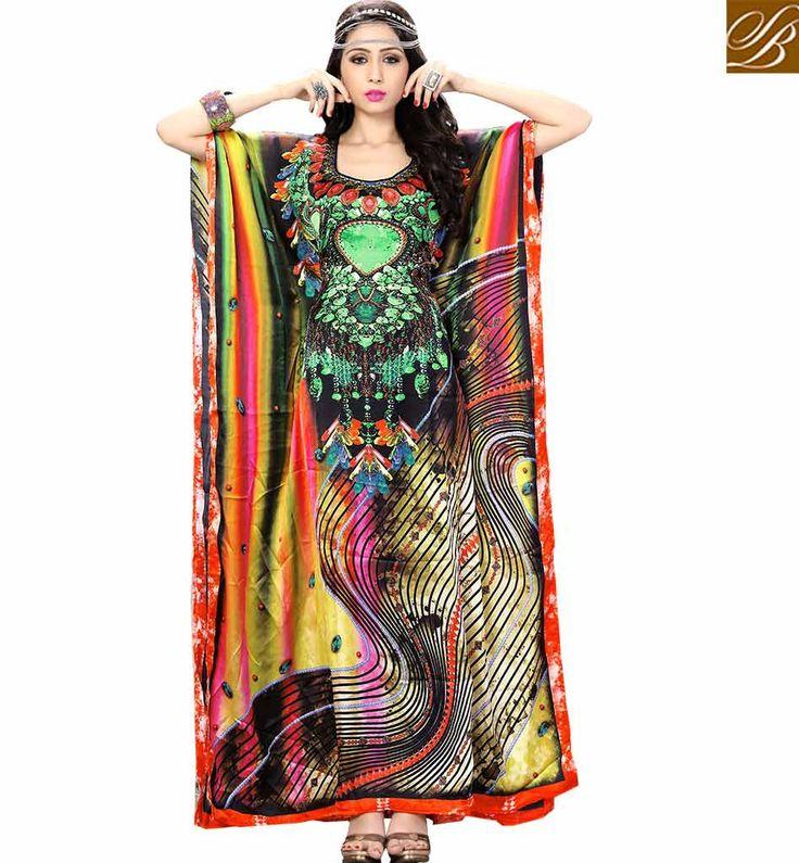 BEAUTIFUL DIGITAL PRINTED KAFTAN DESIGN SKKF5001 – Stylish Bazaar