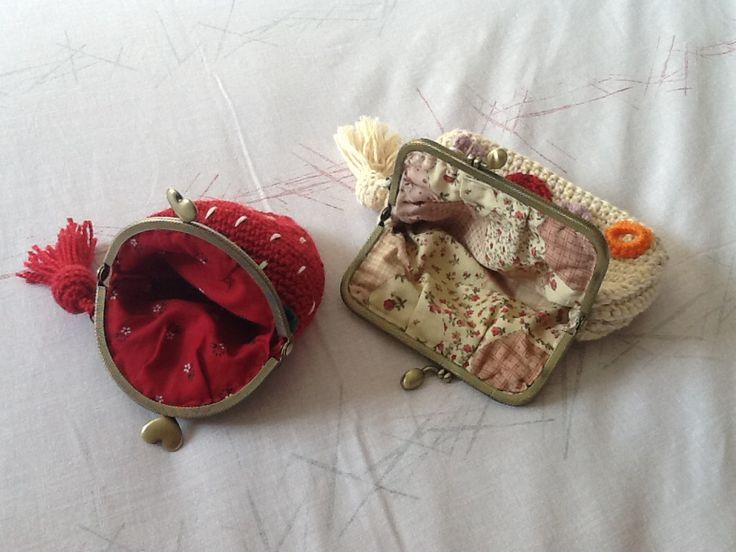 Monederos de ganchillo