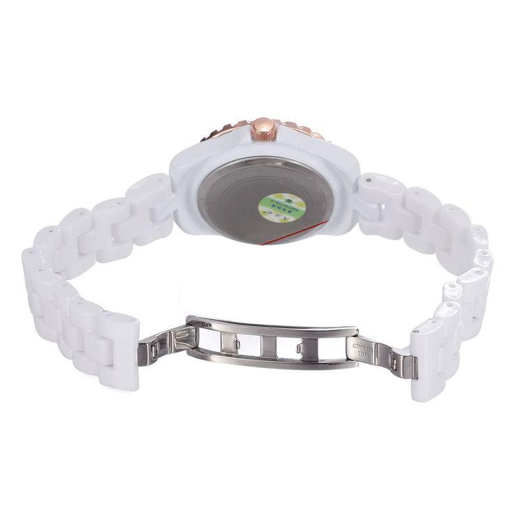 Cheap Array SKONE Fashion Cool Ceramic Waterproof Watchband Vintage Excellent Rhinestone Embedded Delicate Wristwatch Online Shopping | Tomtop