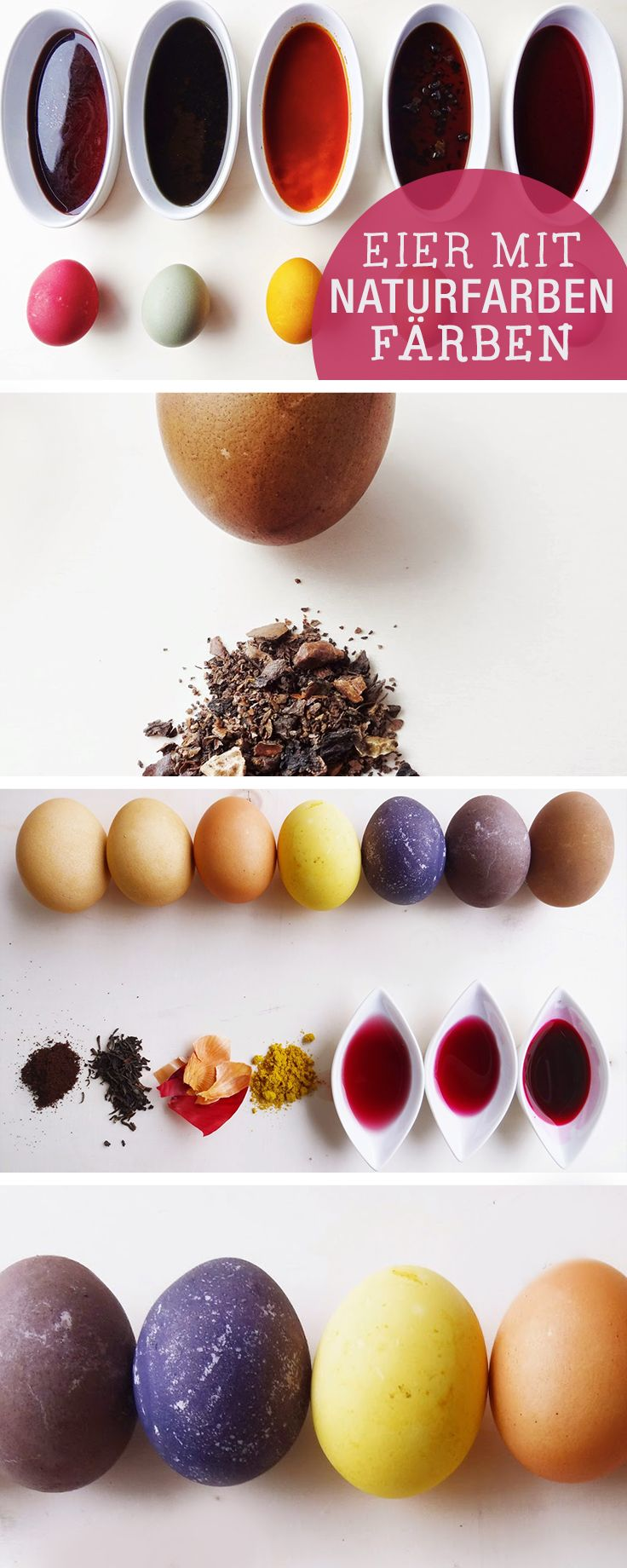 DIY-Anleitung: Ostereier mit Naturfarben färben / diy tutorial: how to colour easter eggs with natural colours via DaWanda.com