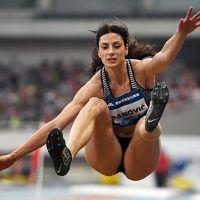 ソニア・マルビシ(イタリア)  棒高跳びの選手。写真は、ダイヤモンドリーグ第5戦のローマ大会で撮影