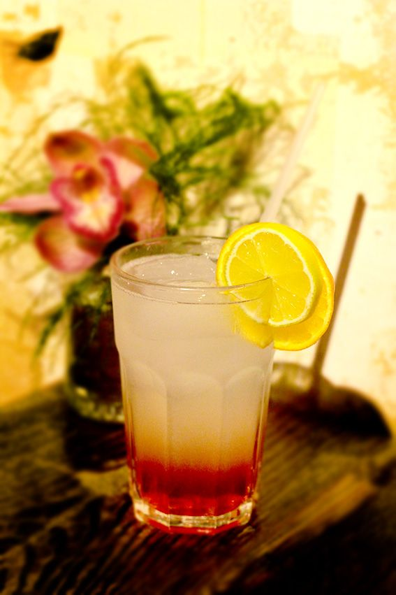 Brody Lemonade with homemade lavender syrup