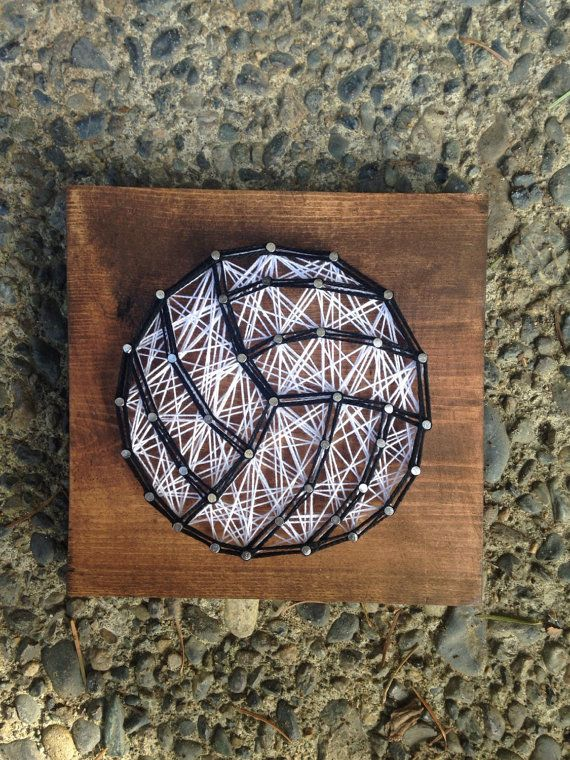 MADE TO ORDER Volleyball String Art Mini by MadeByTheNeedle