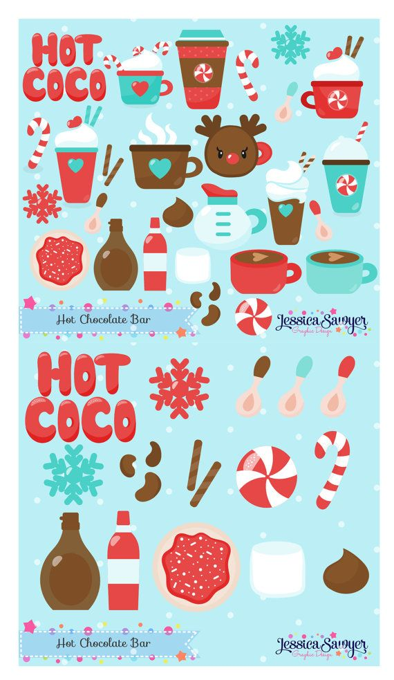 Hot Chocolate Clipart for Christmas