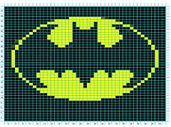 Batman Logo Chart pattern by Elizabeth Thomas