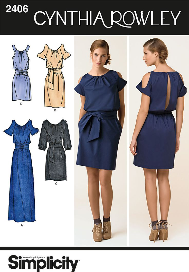 Simplicity Pattern: S2406 Misses' Dresses   by Cynthia Rowley — jaycotts.co.uk - Sewing Supplies