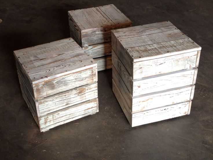 Wooden cubes made from reclaimed wood, Landrum Tables Charleston SC  http://www - 15 Best Images About Side Tables On Pinterest Peacocks, Wooden