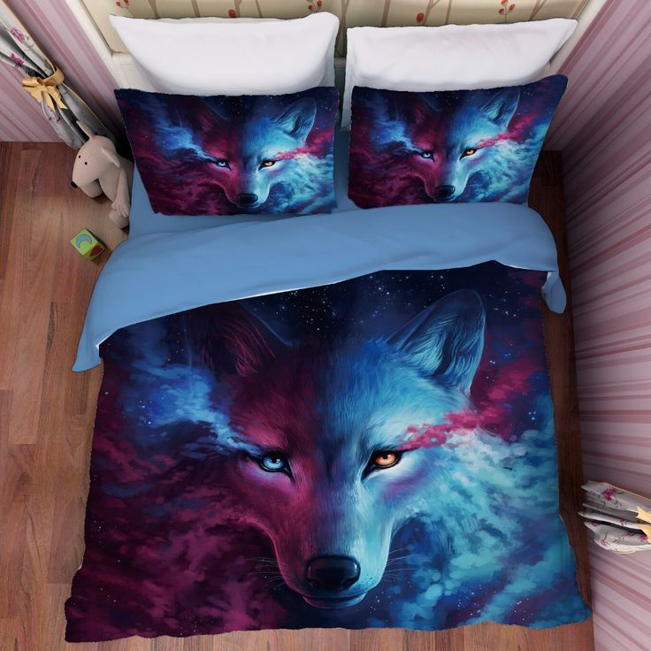 Cheap duvet pattern, Buy Quality animal bedding sets directly from China animal pattern bedding set Suppliers: wolf printed duvet cover 3/4pcs animal pattern bedding set twin full queen king kids adult bedroom decor boys gift bedcover