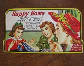 Vintage Needle Book----Happy Home
