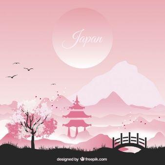 paisaje japones pintura - Buscar con Google