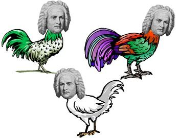 Bach Bach Chickens Music Bulletin Board idea