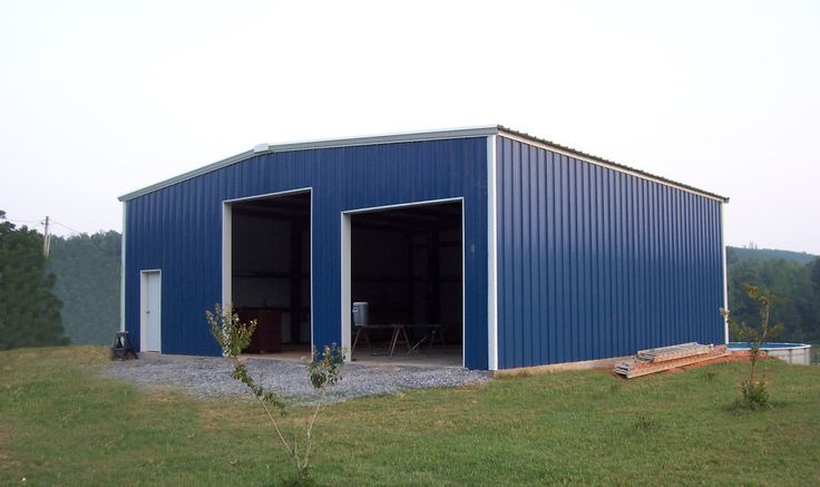 DIY Workshop for the dream homestead. Never thought you could buy an entire steel framed building in kit form.