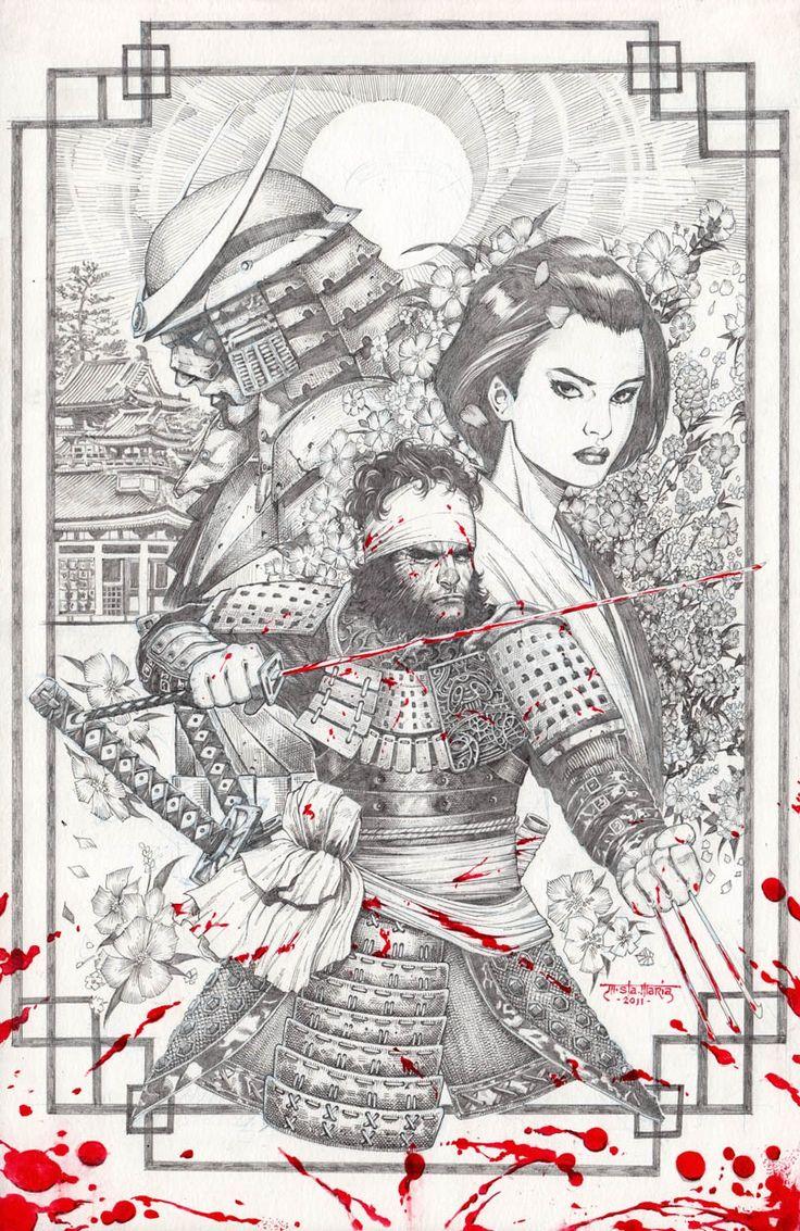 Wolverine Feudal Japan Pinup Comic Art