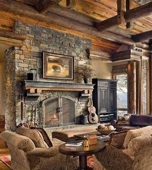 Faux Stone Fireplace Designs | Stacked Stone Fireplace Pictures . . . Simply STUPENDOUS!