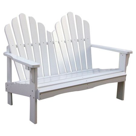 Westport Adirondack Bench in White