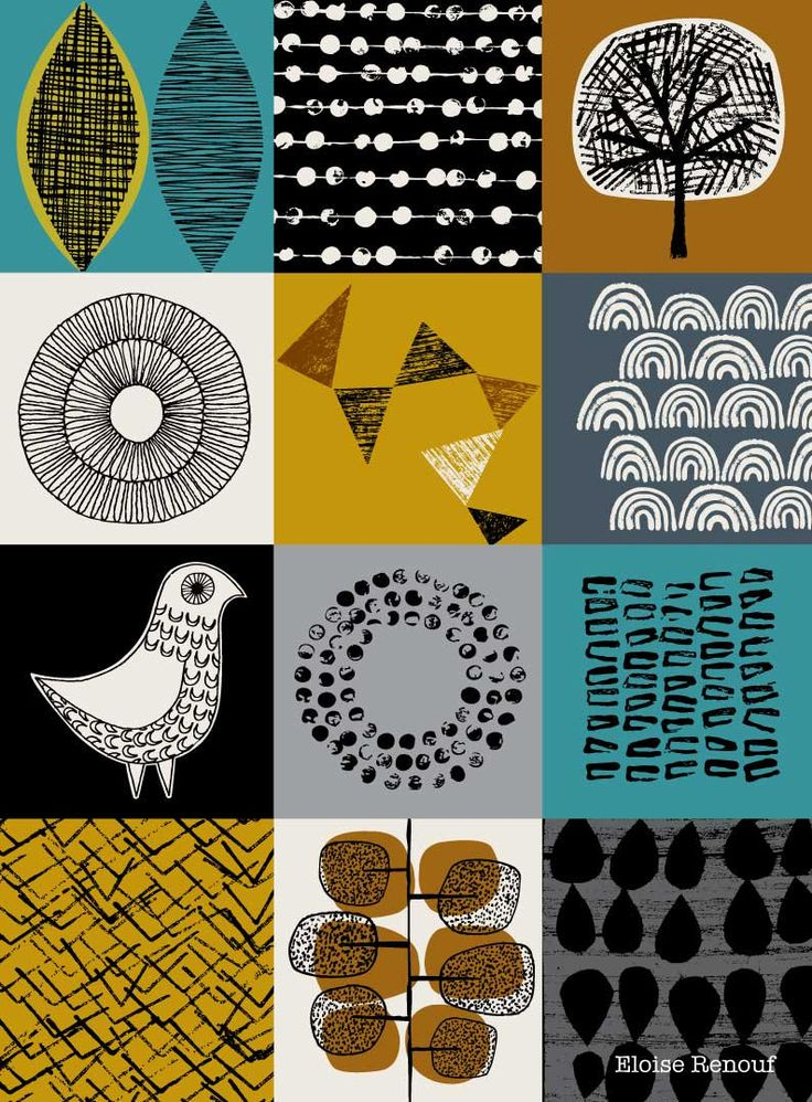 Blockwork Blue, open edition A3 giclee print by Eloise Renouf on etsy