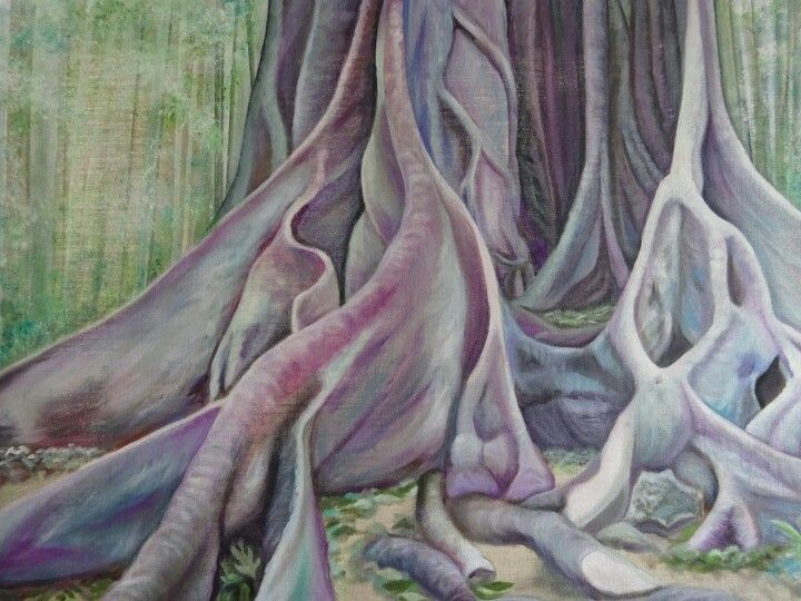 Growth Mt Tamborine, original oil painting by Tracey Hall