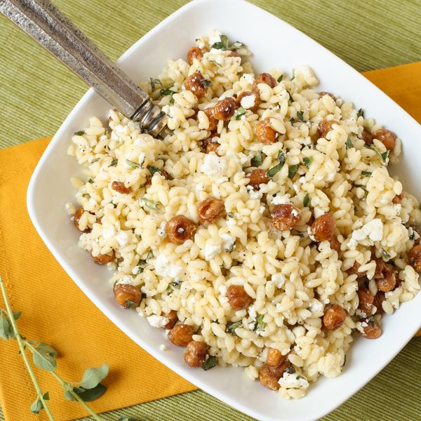 Roasted garbanzo beans, Orzo and Beans on Pinterest