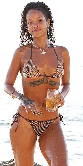 BIKINI WONDER No 4| The flaunt it all around syndrome: Getting Rihanna's beach attire might actually be harder than getting her beach body. The Swarovski-encrusted bikini is Charlie by Matthew Zink and it costs nearly $1,000. (If you want one, better get clicking since the designer claims he'll be creating just 10 of them.)