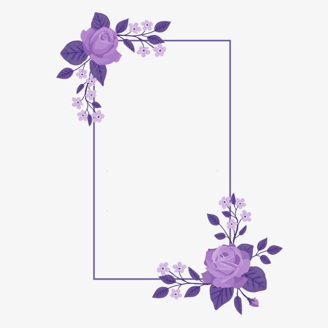 Frame Flower Background Wallpaper Flower Frame Purple Flowers Wallpaper