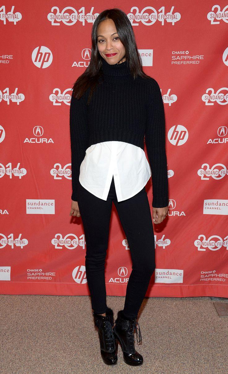 Sundance Film Festival 2014: Zoe Saldana in a Michael Kors Sweater