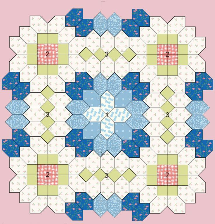 Patchwork of the Crosses - Quilts (beginners)EPP Coffin shape idea Crosses Pinterest ...