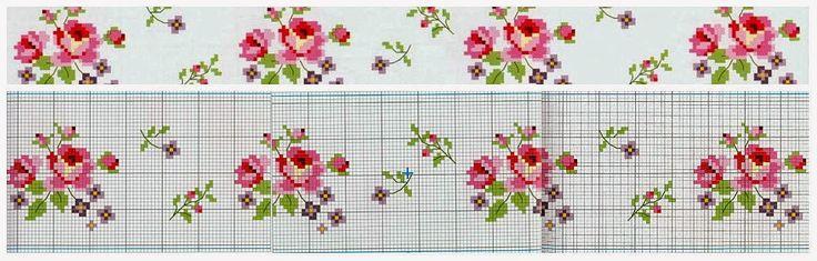 Cross Stitch Rose, Crosses