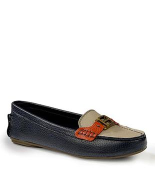 Charles and keith NAVY Penny Loafers shoes