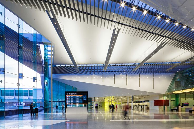 Interior shot of Canberra International Airport - Passenger Terminal by Guida Moseley Brown Architects (C) Rodrigo Vargas. A 2013 entry in the WAN Award for Transport.