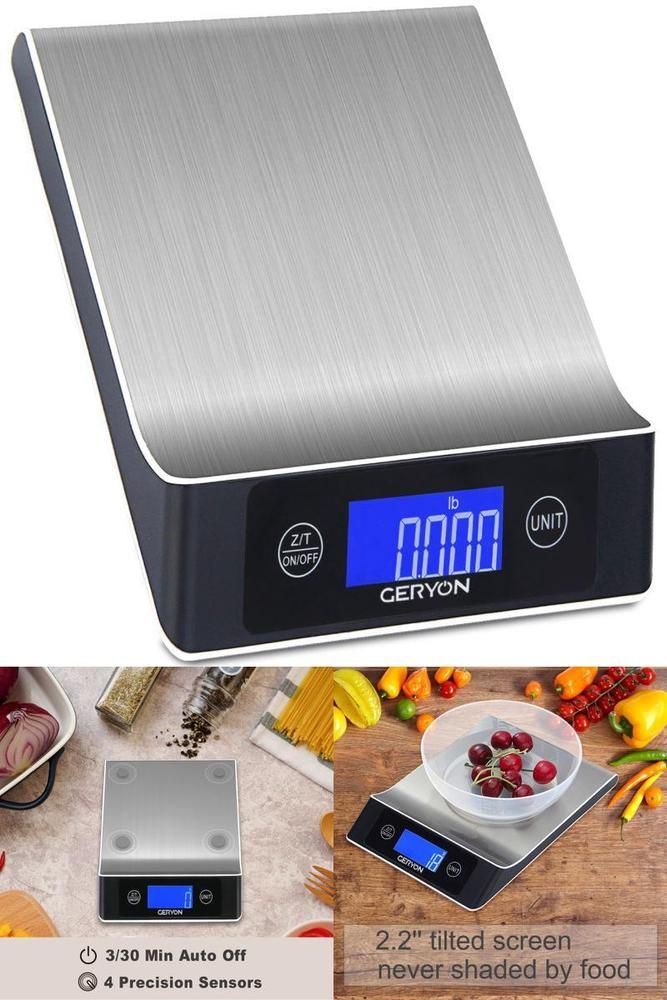 ICYMI: Small Digital Kitchen Scale Stainless Steel Home Food Weight 0.01 Oz To 22 Lb