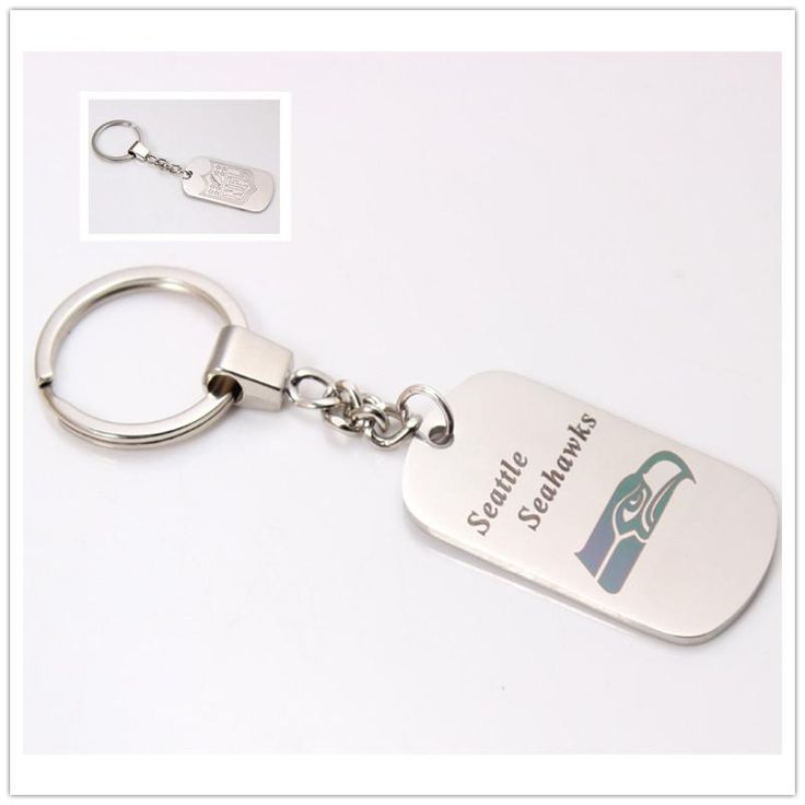 Seattle Seahawks Team Sided Dog Tag Charm Keychain – Best Funny Store