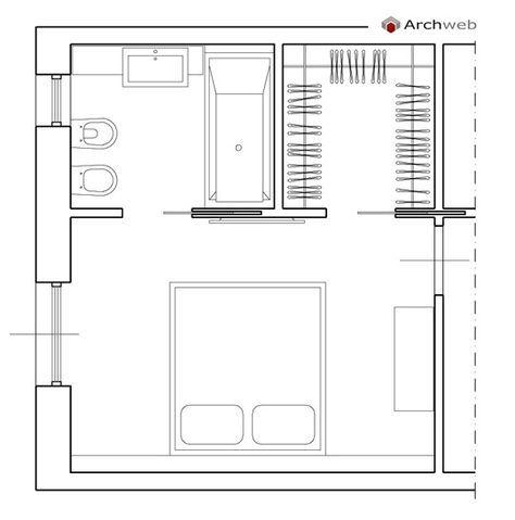 Camera da letto con cabina armadio e bagno | гардероб nel 2019 ...