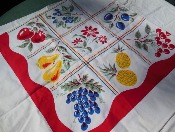 Fun Fruity Tablecloth Fruit Panel Tablecloth By EvergreenLane, $29.50