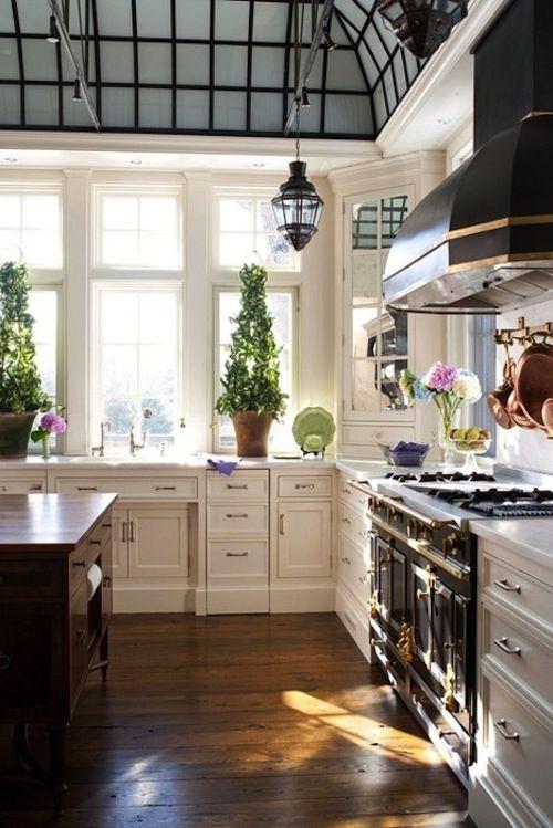 Cocina rústica. El techo es genial